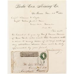Bodie Consolidated Letterhead and Virginia Wells Fargo Express