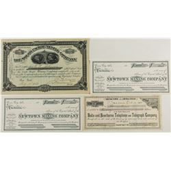 California/Nevada Desert Area Mining Stock Certificates (including Bodie)