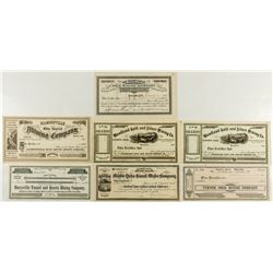 Butte and Yuba County Mining Stock Certificates
