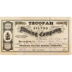 Tecopah Silver Mining Company Stock Certificate