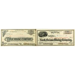 Two Low-Numbered Fresno Mining Stock Certificates