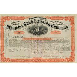 Mariposa Land & Mining Company Stock Certificate