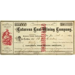 Catarena Coal Mining Company Stock Certificate
