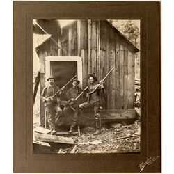 Three Nevada City Miners as Musicians Photograph