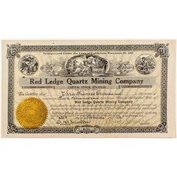 Red Ledge Quartz Mining Co. Stock Certificate