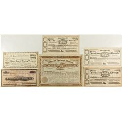 Plumas County Mining Stock Certificates