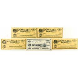 Five Riverside, California Mining Stock Certificates
