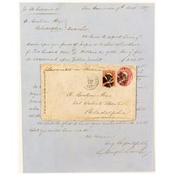 Steamer letter and envelope about Yellow Jacket Mine on the Comstock