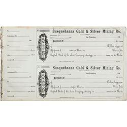 Susquehanna Gold & Silver Mining Co. Assessment Receipts