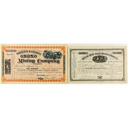 Two Different Hite Mining Company Stock Certificates