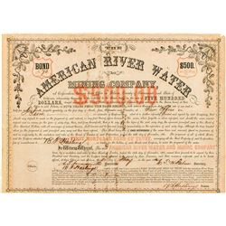 American River Water and Mining Company Bond