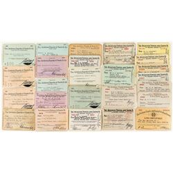 Atchison, Topeka and Sante Fe Railway System Pass Collection (25)