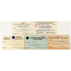 Forth Worth & Denver City Railway Co. Passes (5)
