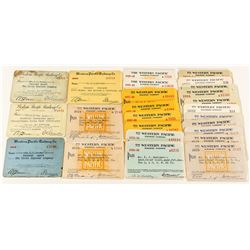 Later Western Pacific Railway Pass Collection