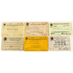 Northern Pacific Railway Company Passes (6)