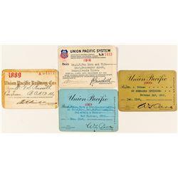 Union Pacific Railroad Passes (4)