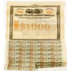 Selma and Gulf Railroad Company Bond