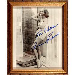 Anne Francis Autograph