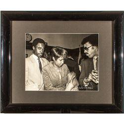 Aretha Franklin, Lionel Ritchie and Glynn Turman