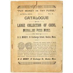 H.E. Morey Coin Catalogue