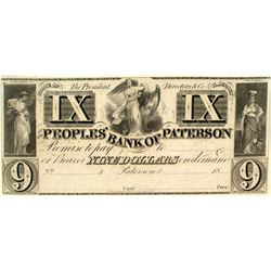 $9 note from the Peoples Bank of Patterson.