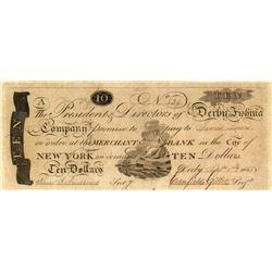 Derby Fishing Co. on Merchants Bank $10, 1808