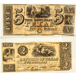Two Republic of Texas Notes