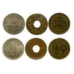 Three Allegheny and Truckee, California Tokens
