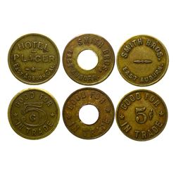 3 East Auburn, California tokens