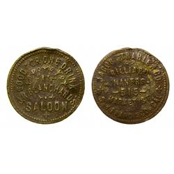 Grass Valley Dug Brunswick Balke Token