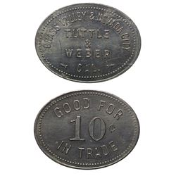 Two Town Tokens: Tuttle & Weber