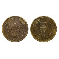 Hydraulic Saloon Drink Token, Nevada City, California