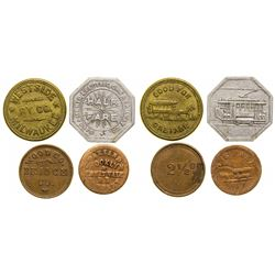 Transportation Tokens Quartet