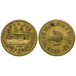 Brunswick & Balke Co. Billiards Token