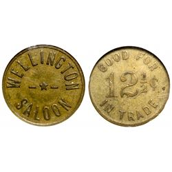 Wellington Saloon Token (Wellington, Nevada)