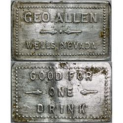 Geo. Allen Token (Wells, Nevada)