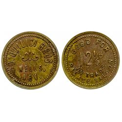 Quilici Bros (Palace Saloon) Token (Wells, Nevada)