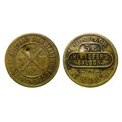 Kiefer's Saloon, Billiard Token