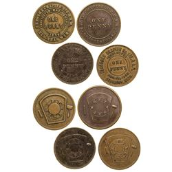 Freemasons Union Tokens Quartet