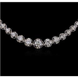 14KT White Gold 3.83ctw Diamond Necklace