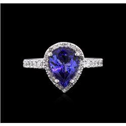 14KT White Gold 2.30ctw Tanzanite and Diamond Ring