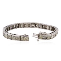14KT White Gold 26.22ctw Diamond Tennis Bracelet