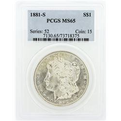 1881-S PCGS MS65 Morgan Silver Dollar