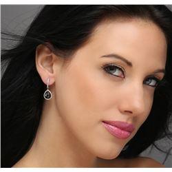 14KT White Gold 5.02ctw Black Diamond Earrings