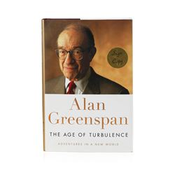 Signed Copy of The Age of Turbulence: Adventures in a New World by Alan Greenspan