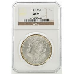 1889 NGC MS63 Morgan Silver Dollar