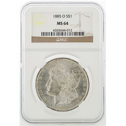 1885-O NGC MS64 Morgan Silver Dollar