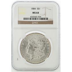 1884 NGC MS64 Morgan Silver Dollar