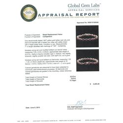 14KT Yellow Gold 22.57ctw Ruby and Diamond Bracelet