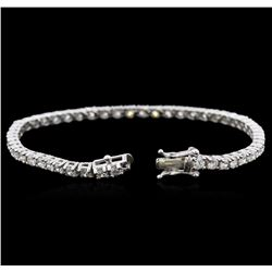 14KT White Gold 4.49ctw Diamond Tennis Bracelet